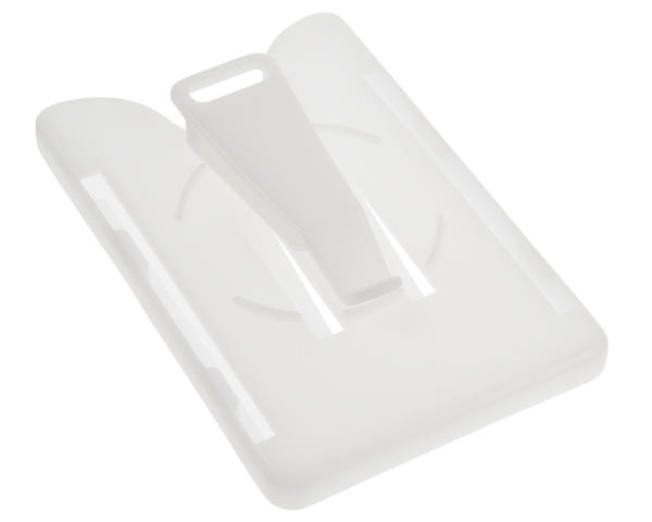 Clear-White Multi Card Holders With Swivel Clip - Pack of 100