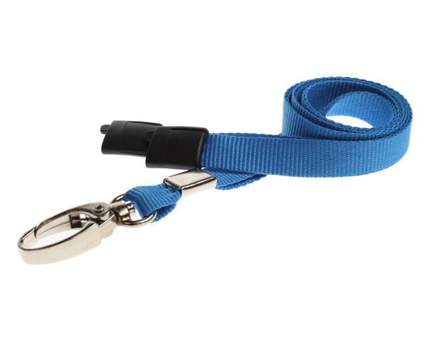 Light Blue Breakaway Lanyards Metal Lobster Clip - Pack of 100