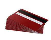 Pack of 100 Red 760 Micron Grade A Cards with Hi-Co Magnetic Stripe & Signature Panel