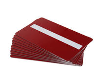 Pack of 100 Red Premium 760 Micron Cards with Sig Panel