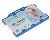 Light Blue Dual-Sided Rigid Card Holders - Landscape - Pack of 100