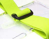 Yellow Hi-Vis Vinyl Adjustable Portrait Armband Holder - Pack of 100