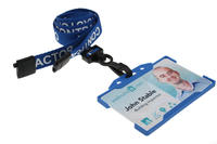 Contractor Blue Lanyards Plastic J-Clip - Pack of 100