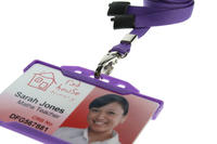 Pack of 100 Purple Breakaway Lanyards Metal Lobster Clip