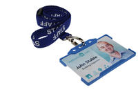 Royal Blue Staff Lanyards with Breakaway and Metal Lobster Clip - Pack of 100