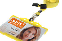 Pack of 100 Yellow Breakaway Lanyards Metal Lobster Clip