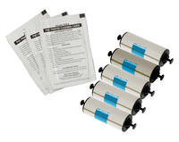 Zebra Cleaning Kit - 5 Rollers & 5 Cleaning Cards