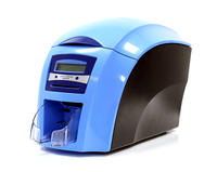 Heath Service Blue NHS Single Sided Card Printer, includes a free colour ribbon - 3633-9001-NH