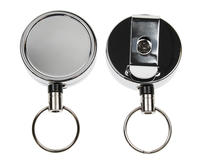 Chrome Heavy Duty Card Reel Key Ring - Pack of 50
