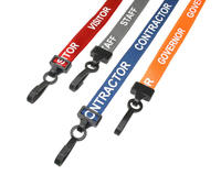 Printed Lanyard Bundle Pack inc Governor, Contractor, Staff & Visitor Lanyards