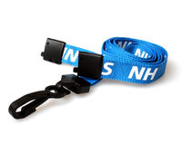 Pack of 100 15mm NHS Lanyards with Plastic J-Clip