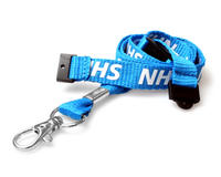 Pack of 100 NHS Lanyards with Double Breakaway Trigger Clip